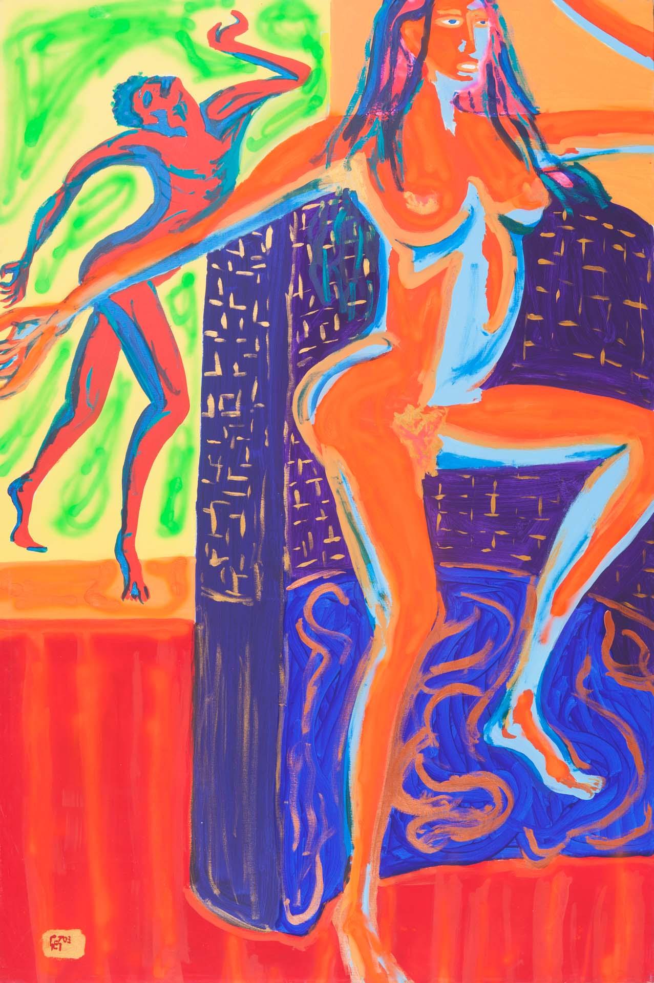 Black Dancer with Satyr